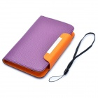 Protective PU Leather Flip-Open Case for Samsung i9220 / Galaxy N7000 - Purple
