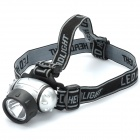 200LM 3-Mode White LED Headlamp - Silver + Black (3 x AAA)