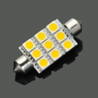 42mm 7000K 0,5 W 80-Lumen 9-5050 SMD LED White Light Car Leselampe (DC 8 ~ 30V)
