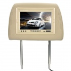 "Car Headrest 7"" LED Wide Screen Monitor w/ Remote Controller (NTSC/PAL / CR2025)"