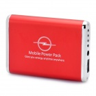 3600mAh Notfall Mobile Power Akku mit 9 Cell Phone Adapter - Red