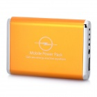 3600mAh Emergency Mobile Power Rechargeable Battery Pack with 9 Cell Phone Adapters - Golden