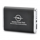 3600mAh Emergency Mobile Power Rechargeable Battery Pack with 9 Cell Phone Adapters - Black