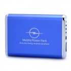3600mAh Emergency Mobile Power Rechargeable Battery Pack with 9 Cell Phone Adapters - Blue