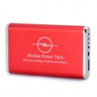 5000mAh Emergency Mobile Power Rechargeable Battery Pack with 9 Cell Phone Adapters - Red