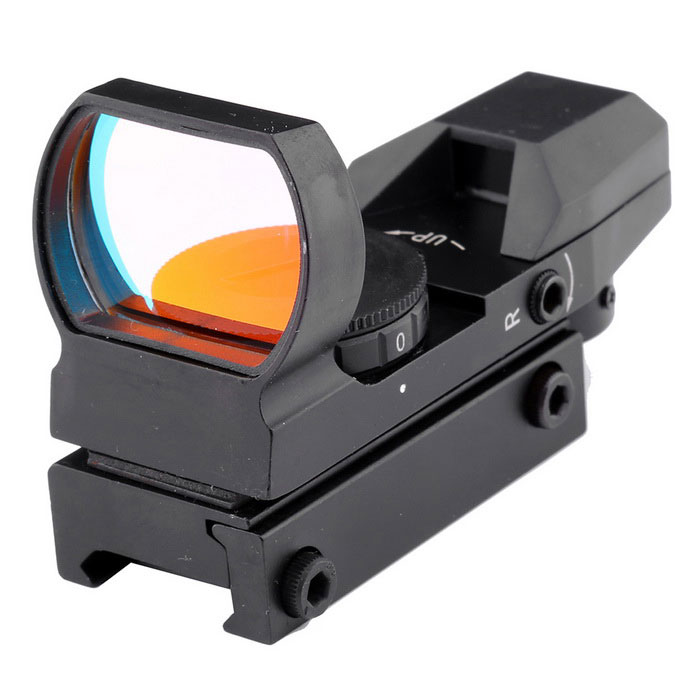 1X 33mm 4-Mode Red Dot Sight Rifle Scope (1 x CR2032)Gun Scopes &amp; Sights<br>Model:Form  ColorBlackMaterial:Objective Diameter:Laser ColorRedPacking List<br>