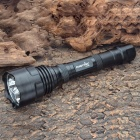FANDYFIRE XP-G R5 1000LM 5-Mode Memory Water Resistant White LED Flashlight - Black (2 x 18650)
