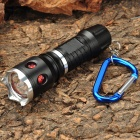 3-Mode 180LM White LED Convex Lens Zoom Flashlight w/ Carabiner Clip (1 x AA/14500)