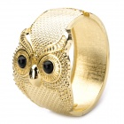 Creative Fashion Owl Style Zinc Alloy Bracelet - Gold (6.3cm-Inner Diameter)
