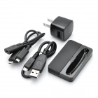 4-in-1 AC Charger + Battery Charging Dock + USB Cables Set for Blackberry 9900 / 9930