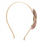 Stylish 8 Shaped Style Zinc Alloy Synthetic Quartz Headband - Gold + Champagne