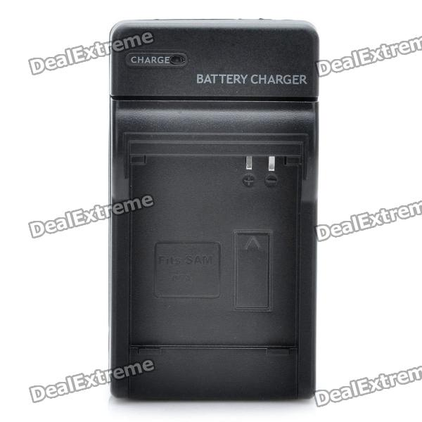 AC Battery Charger Cradle for Samsung SLB-07A Digital Camera Battery (2-Flat-Pin Plug)