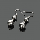 Elegant 990 Sterling Silver Ball Pendants Earrings (Pair)