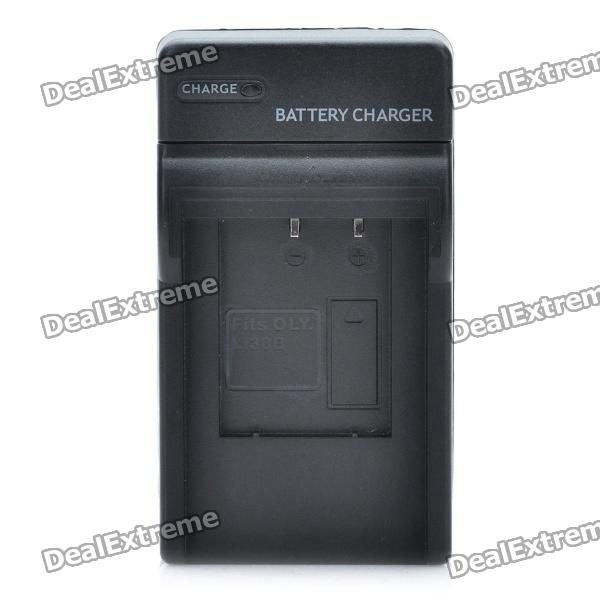 AC Battery Charger Cradle for Olympus LI-30B Digital Camera Battery (2-Flat-Pin Plug)