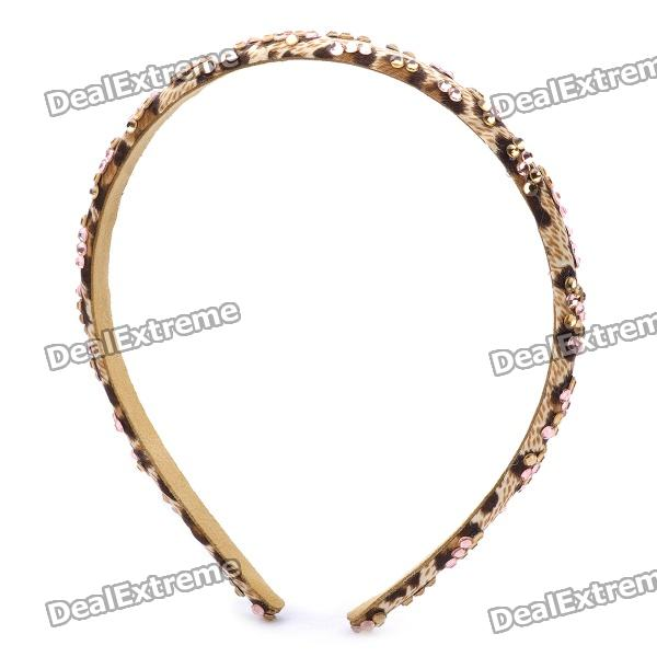 Stylish Zinc Alloy Synthetic Quartz Headband - Leopard