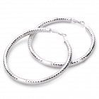 Fashion Zinc Alloy Earrings - Silver (7cm-Diameter / Pair)