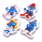 Cute The Smurfs Pattern Rubber Eraser - Blue + White + Red (4-Piece Pack)