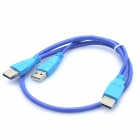 USB 2.0 Male to Dual Male Connection Cable for HDD / Scanner / Printer (50cm)