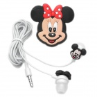 Cute Cartoon Minnie Mouse Style Earphone Cable with Microphone for iPhone 4 - White + Black + Red