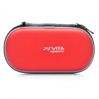 Protective Dual Zipper Hard Leather Case with Carabiner Clip for PS Vita - Red