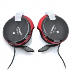 HYUNDAI Ear-Hook Earphone w/ Microphone - Black + Red (3.5mm-Plug / 220cm-Cable)