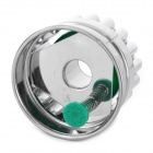 Stainless Steel + ABS Chrysanthemum Circle Shaped Spring Cookie Cutter - Green + Silver