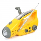 Multi-Function Solar / Hand-Crank / USB Powered Flashlight w/ FM / Emergency Battery / Adapters
