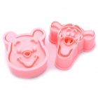 Winnie the Pooh and Tigger Style ABS Stereo Cookie Cutters Set - Pink