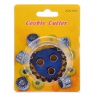 Stainless Steel + ABS Spring Cookie Cutter - Silver + Blue