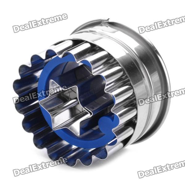 Stainless Steel + ABS Spring Cookie Cutter - Blue + Silver stainless steel abs chrysanthemum circle shaped spring cookie cutter green silver