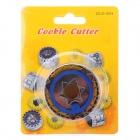 Stainless Steel + ABS Spring Cookie Cutter - Blue + Silver