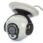 "P2P 300KP 1/4"" CMOS Network Surveillance ID Camera w/ 12-LED IR Night Vision - Grey + Black"