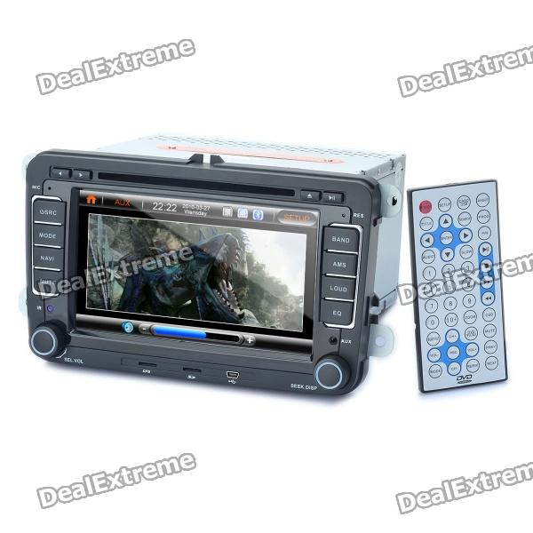 7 Touch Screen Car DVD Player + WinCE 6.0 GPS Navigator w/ FM/Bluetooth/TF for Volkswagen Magotan ultra thin 7 touch screen lcd wince 6 0 gps navigator w fm internal 4gb america map light blue