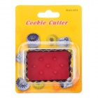 Stainless Steel + ABS Spring Cookie Cutter - Red + Silver