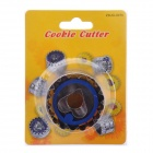 Stainless Steel + ABS Chrysanthemum Heart-Shaped Spring Cookie Cutter