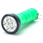 TGX-819 Rechargeable 2-Mode 5-LED White Light Flashlight w/ UV Light - Green + Black