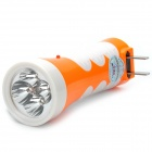 TGX-820 Rechargeable 2-Mode 4-LED White Light Flashlight w/ UV Light - Orange + White