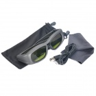 USB Rechargeable Bluetooth V3.0 3D Active Shutter Glasses for Samsung 3D TVs - Black