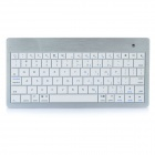 USB Rechargeable Ultra Slim 80-Key Bluetooth Keyboard - White + Silver