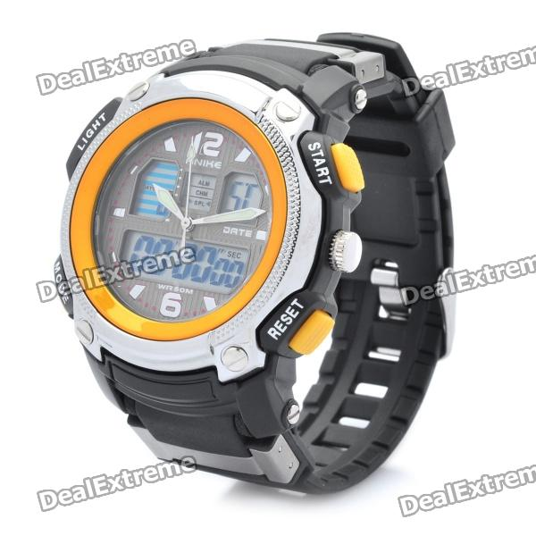 Sports Diving Dual Time Display Wrist Watch w/ Alarm Clock / Stopwatch (1 x CR2016)