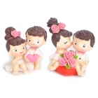 Romantic Couples Lovers Resin Doll Desk Ornaments - Valentine's Day Gift (Set of 10)