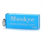 MOSKYE Mini USB Flash Drive - Blue (4GB)