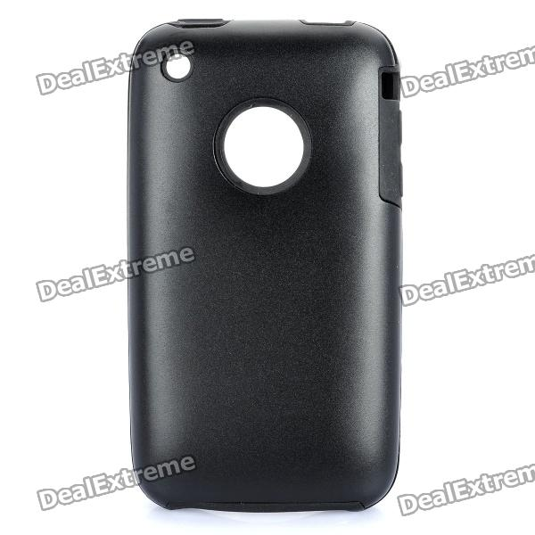 Protective Stylish Back Case for Iphone 3gs - Black stylish bubble pattern protective silicone abs back case front frame case for iphone 4 4s