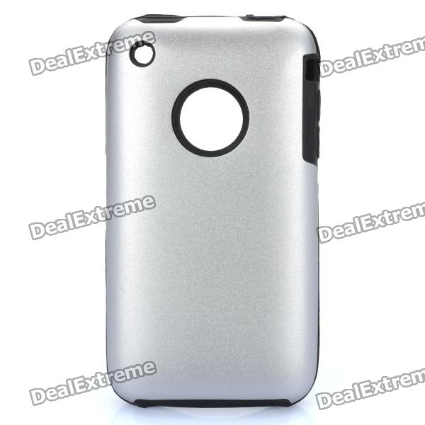 Protective Stylish Back Case for Iphone 3gs - Silver iphone 3gs 16gb иркутск