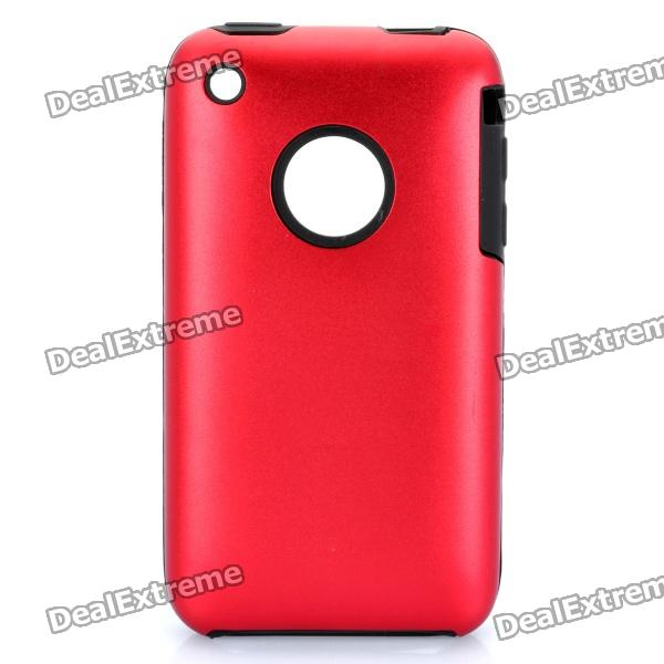 Protective Stylish Back Case for iPhone 3GS - Deep Red