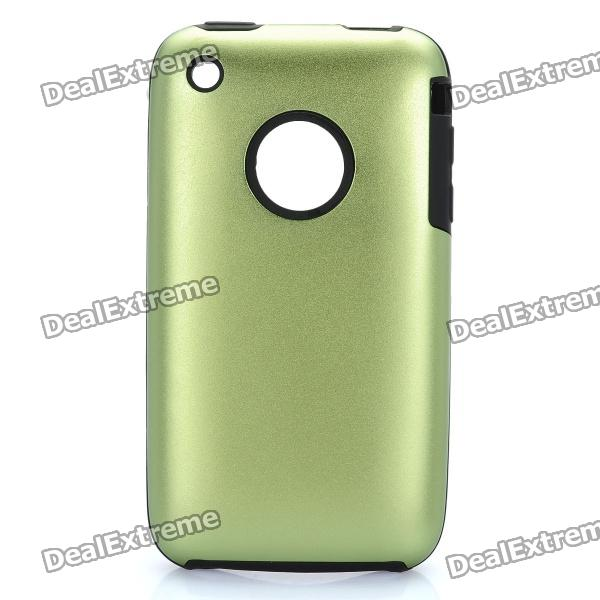 Protective Stylish Back Case for Iphone 3gs - Green stylish protective silicone back case for iphone 5c grey