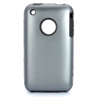 Protective Stylish Back Case for Iphone 3gs - Iron Grey