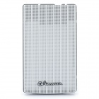 "Mesh Aluminum USB 2.0 Hard Disk Drive Enclosure for 2.5"" SATA HDD - White (Max. 500G)"