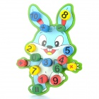 Wooden Rabbit Style Digits Column Block Match Game Toy