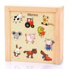 Enlighten Wooden Farm Memo Animals Memory Game Card Toy (20 Cards)